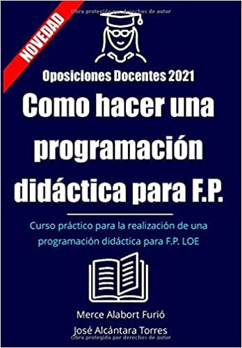 Como hacer una programación didáctica para FP: Curso programación didáctica para FP